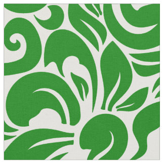 Jungle Green Floral Fabric