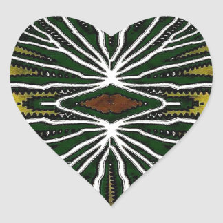 Jungle Heart Sticker