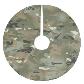 Jungle I Camouflage Pattern Brushed Polyester Tree Skirt