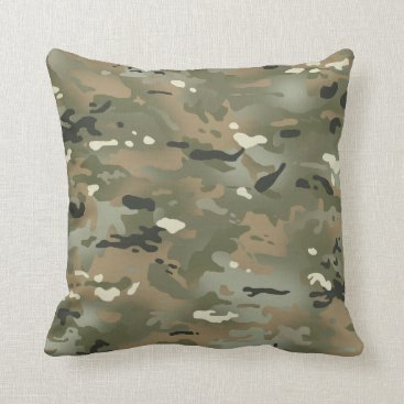 Jungle I Camouflage Pattern Throw Pillow