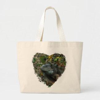 Jungle Iguana Large Tote Bag