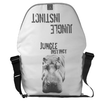 Jungle Instinct_hippo stipple Courier Bags
