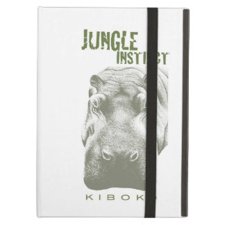 Jungle Instinct_Kiboko_hippo stipple 2 iPad Air Cases