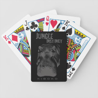 Jungle Instinct_Kiboko_hippo stipple Bicycle Playing Cards