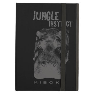 Jungle Instinct_Kiboko_hippo stipple iPad Air Cases