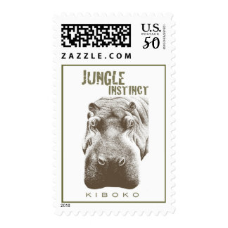 Jungle Instinct™_Kiboko_hippo two-tone postage