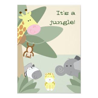 """Jungle invitation 5"""" x 7"""" invitation card"""