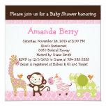 Jungle Jill Animals Baby Shower Invitation