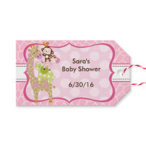Jungle Jill Animals Stacked Baby Shower Gift Tags