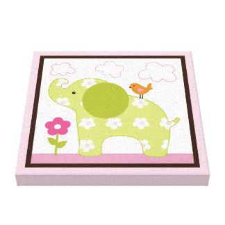 Jungle Jill Elephant Girl Animals Canvas Print