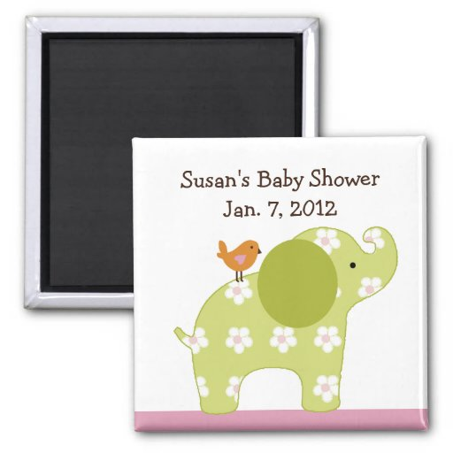 Jungle Jill Elephant Magnet/Keepsake/Party Favor Magnet