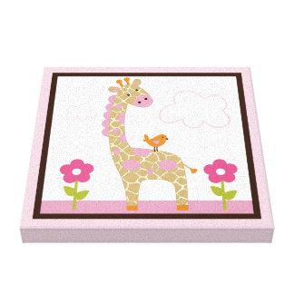 Jungle Jill Giraffe Girl Animals Canvas Print