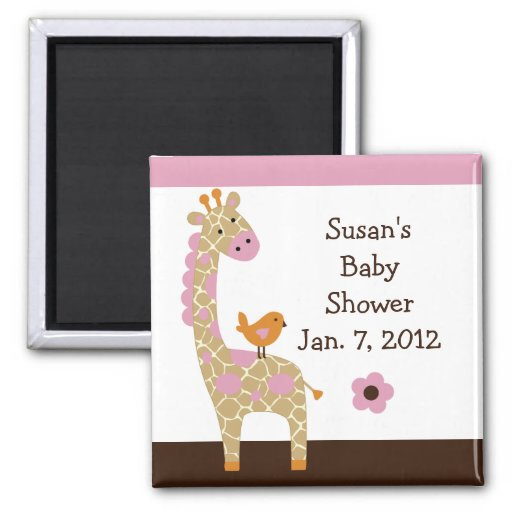 Jungle Jill Giraffe Magnet/Keepsake/Party Favor Magnet