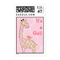Jungle Jill Giraffe Personalized Postage Stamps