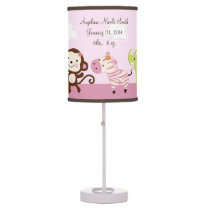 Jungle Jill/Girl Animals Baby Nursery Lamp