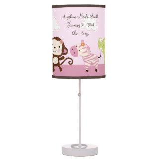Jungle Jill/Girl Animals Baby Nursery Lamp