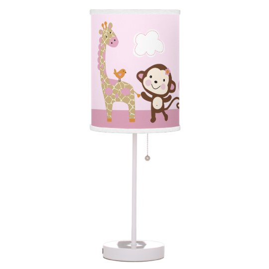 Jungle Jill Girl Animals Baby Nursery Lamp Zazzle Com