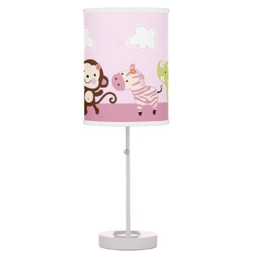 jungle jill girl animals baby nursery lamp zazzle. Black Bedroom Furniture Sets. Home Design Ideas