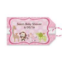 Jungle Jill Girl Animals Baby Shower Gift Tags