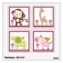 Jungle Jill/Girl Animals Wall Decal