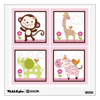 Jungle Jill/Girl Animals Wall Decal