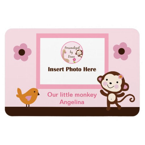 Jungle Jill Girl Monkey Photo Magnet