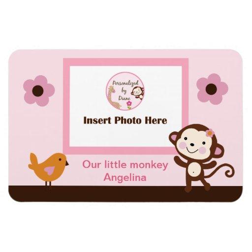 Jungle Jill Girl Monkey Photo Magnet