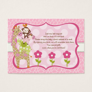 Jungle Jill Girl Stacked Animals Favor Book Tag