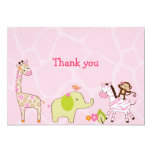 Jungle Jill Jungle Animal Thank You Note Cards Personalized Invitations