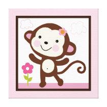 Jungle Jill Monkey Girl Animals Canvas Print