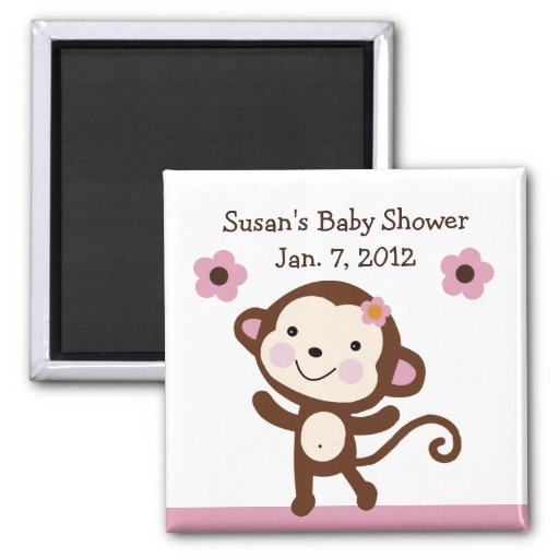 Jungle Jill Monkey Magnet/Keepsake/Party Favor Magnet