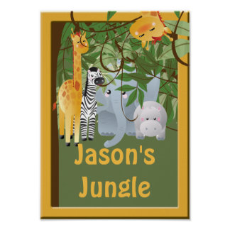 Jungle Kids Room Custom Poster