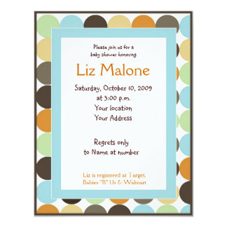 Jungle King Lion Dot Baby shower Invitations