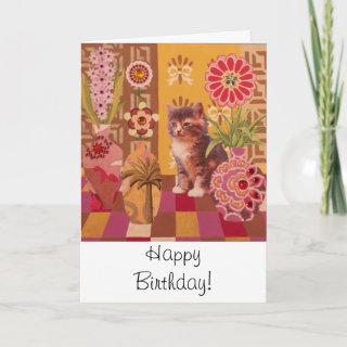Jungle Kitten: Cute Kitty Birthday Card