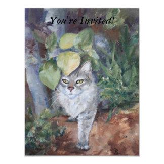Jungle Kitty 4.25x5.5 Paper Invitation Card