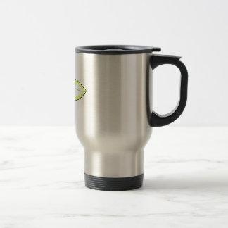 JUNGLE LEAF APPLIQUE COFFEE MUG