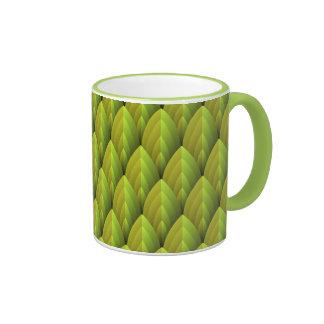 Jungle Leaf Pattern Ringer Mug