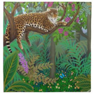 Jungle Leopard at Rest Napkin