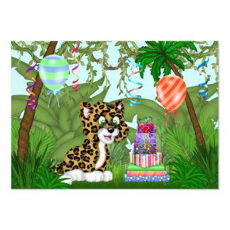 Jungle Leopard Birthday Party Invitation