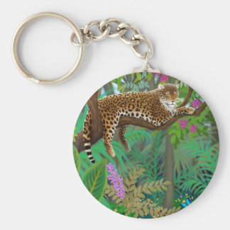 Jungle Leopard Keychain