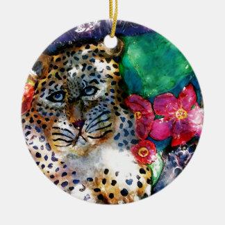 Jungle Leopards Ceramic Ornament