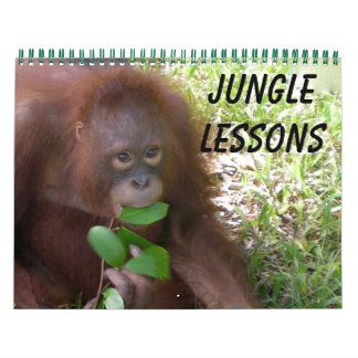 Jungle Lessons Calendar