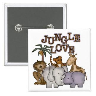 Jungle Love 2 Inch Square Button
