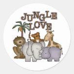 Jungle Love Classic Round Sticker