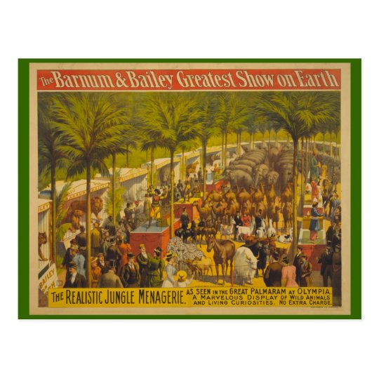 Jungle Menagerie at Olympia Circus Poster Postcard