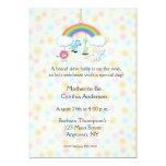 "Jungle Mobile Floral Baby Shower Invitation 5"" X 7"" Invitation Card"