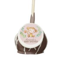 Jungle Monkey Baby Shower Favor Cake Pops