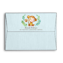 Jungle Monkey Boys Invitation Envelope