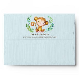 Jungle Monkey Boys Invitation Envelope