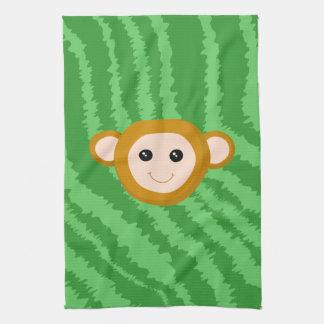 Jungle Monkey, Face. Hand Towels